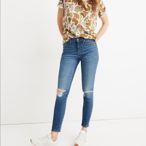 """Madewell Eco 9"""" Mid-Rise Skinny Crop in Delmar"""